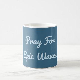 Priez pour la tasse épique de vagues