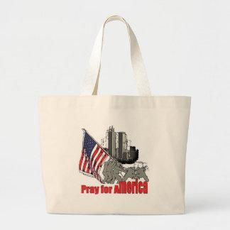 Priez pour l'Amérique Grand Tote Bag