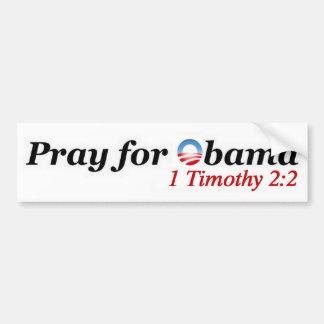 Priez pour Obama Autocollant Pour Voiture