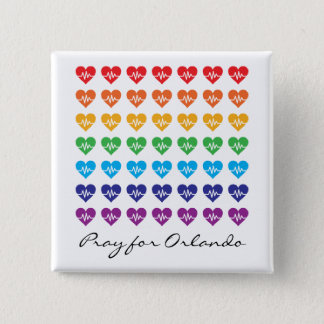 Priez pour Orlando un coeur d'arc-en-ciel Pin's