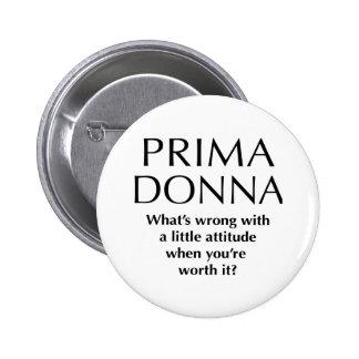 Prima fier Donna - la puissance des femmes drôles Badge Rond 5 Cm