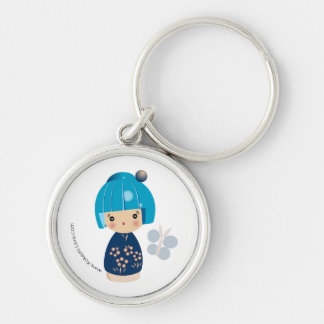 Prime bleue Keychain de triplet de Kokeshi