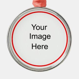 Prime ronde d'ornement de photo ornement rond argenté