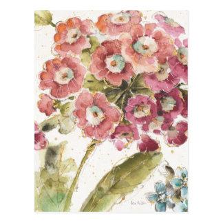 Primevère rose carte postale
