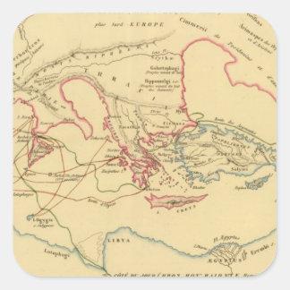 Primitif de DES Grecs de Geographie Sticker Carré