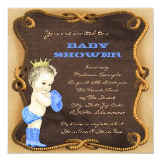 Prince baby shower de cowboy carton d'invitation  13,33 cm