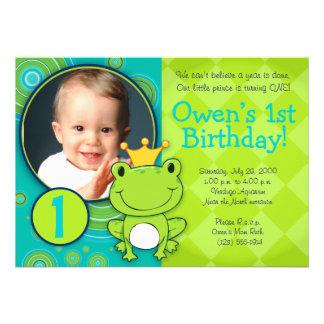 Prince Birthday de grenouille Faire-parts