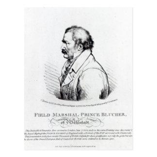 Prince Blucher de maréchal de champ de Wahlstadt Carte Postale
