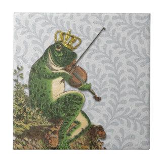 Prince charme vintage de grenouille petit carreau carré