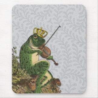 Prince charme vintage de grenouille tapis de souris