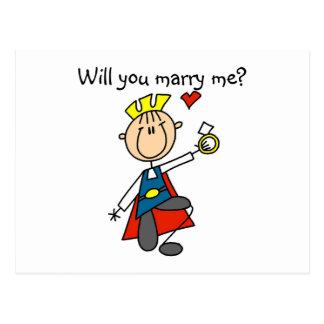 Prince charme vous m'épouserez carte postale