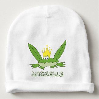 Prince Cute Funny Green Cartoon de grenouille Bonnet De Bébé