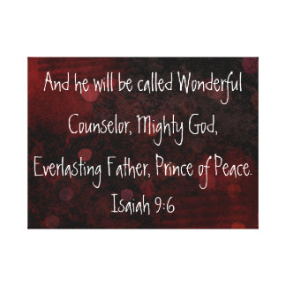 Prince de 9:6 d'Isaïe de vers de bible de paix Toiles