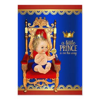 Prince de fantaisie baby shower carton d'invitation  12,7 cm x 17,78 cm
