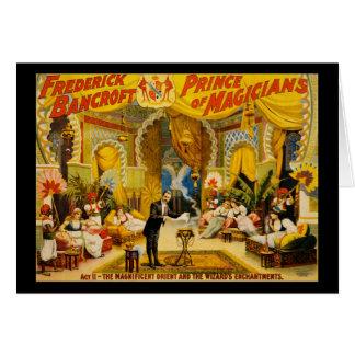 Prince de Frederick Bancroft des magiciens Carte De Vœux