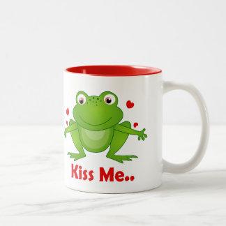 prince de grenouille avec le baiser je tasses des