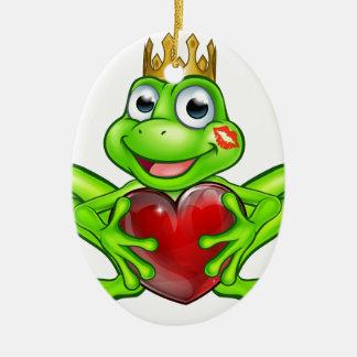 Prince de grenouille de bande dessinée avec le ornement ovale en céramique