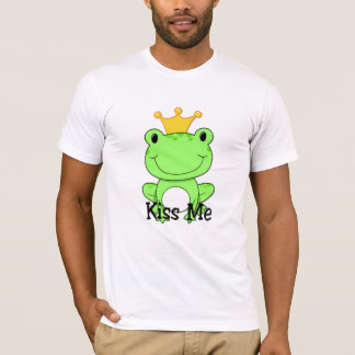 Prince de grenouille - embrassez-moi pièce en t t-shirt