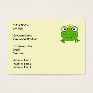 Prince de grenouille. Grenouille de sourire avec Cartes De Visite
