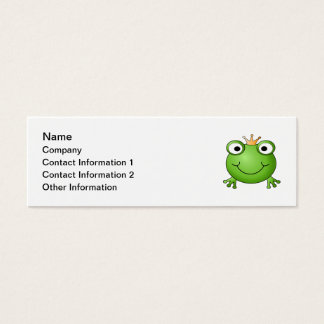 Prince de grenouille. Grenouille heureuse Mini Carte De Visite