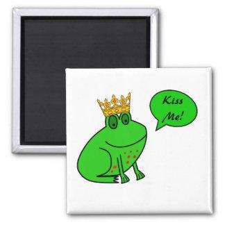 Prince drôle de grenouille - magnet animal de