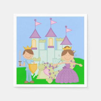 Prince et princesse serviettes de papier de brune serviette en papier