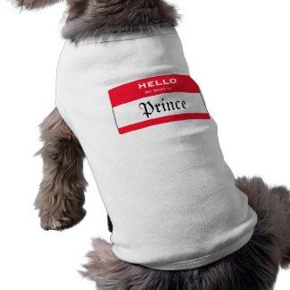 Prince fait sur commande Dog Shirt de nom de chien T-shirt Pour Chien