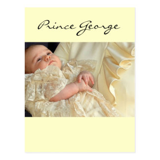 Prince George Christening Carte Postale