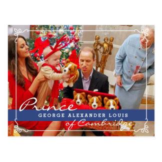 Prince George Christmas de Kate Middleton Carte Postale