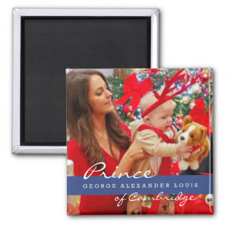 Prince George Christmas de Kate Middleton Magnet Carré