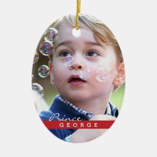 Prince George de Cambridge Ornement Ovale En Céramique