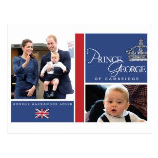 Prince George - William et Kate Carte Postale