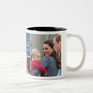 Prince George - William et Kate Tasse 2 Couleurs