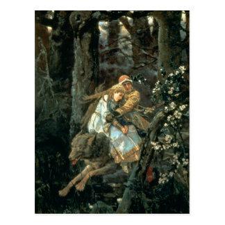 Prince Ivan sur le loup gris, 1889 Carte Postale