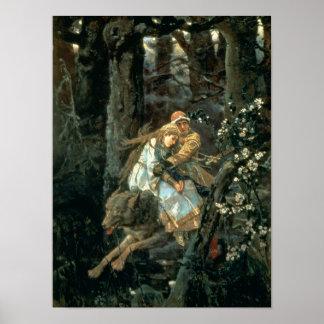Prince Ivan sur le loup gris, 1889 Posters