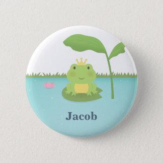 Prince mignon For Boys de grenouille d'étang Badge