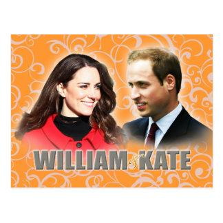 Prince William et carte postale de Kate Middleton