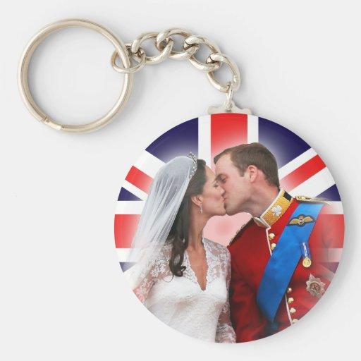 Prince William et Kate Keychain l'épousant royal Porte-clef