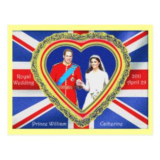 Prince William et mariage royal de Catherine Carte Postale