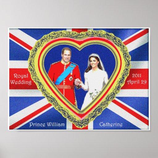 Prince William et mariage royal de Catherine Affiche
