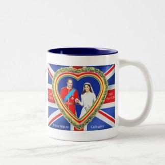 Prince William et mariage royal de Catherine Tasse 2 Couleurs