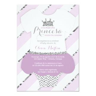 Princes d'una de Para de baby shower d'Invitación Carton D'invitation 12,7 Cm X 17,78 Cm