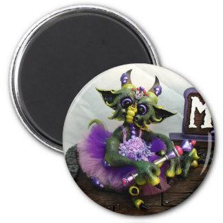 Princesse Alina Dragon Magnet de DM, rond