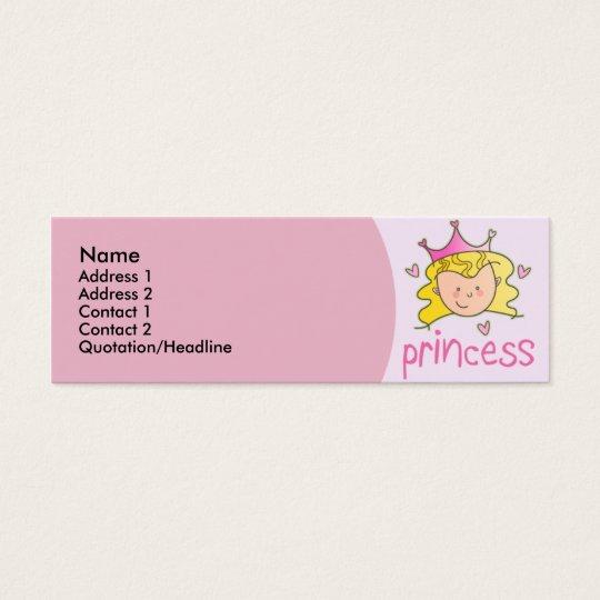 Princesse assez blonde Skinny Profile Cards Mini Carte De Visite