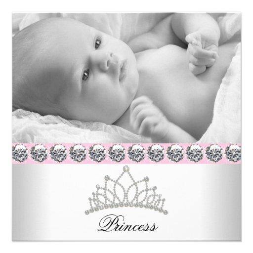 Princesse assez rose Baby Birth Announcements Cartons D'invitation Personnalisés