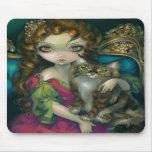 """""""Princesse avec un chat de ragondin du Maine"""" Mous Tapis De Souris"""