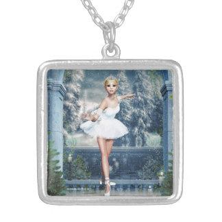 Princesse Ballerina Christmas Pendant Necklace de Collier