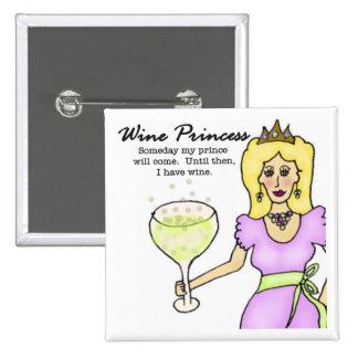 Princesse Button de vin Pin's