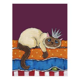 Princesse Cat et la carte postale d'art de pois