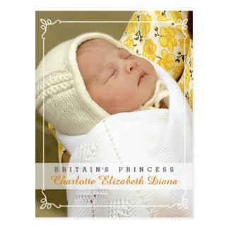 Princesse Charlotte Elizabeth Diana - William Kate Cartes Postales